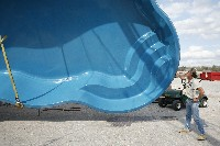 Rio Fiberglass Pool in Fountain Valley, CA